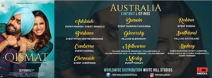 Qismat Australia Theatre listings